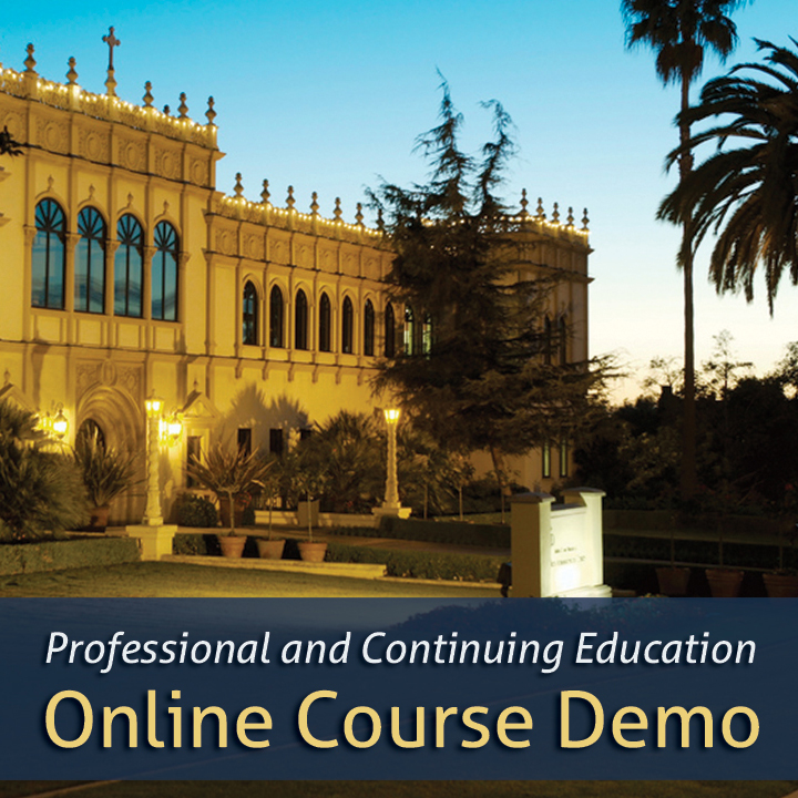 University of San Diego PCE Online Course Demo