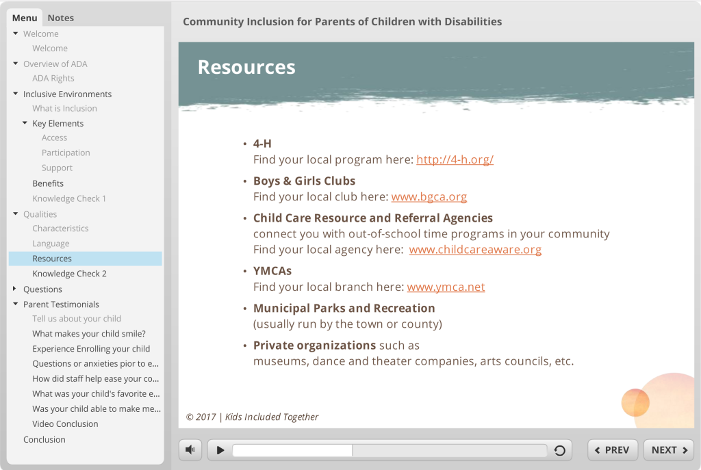 screenshot of parent module Storyline File